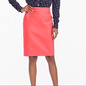Cranberry pencil skirt